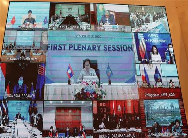 老挝国会主席高度评价越南担任ASEAN和AIPA轮值主席国的作用 hinh anh 1