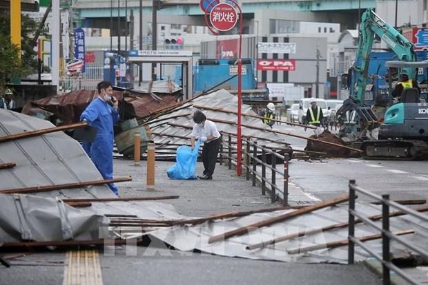 越南驻日本福冈总领事馆同日本有关部门配合寻找在台风中失踪的2名越南研修生 hinh anh 1