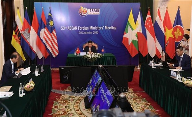 2020年东盟主席年:第53届东盟外长会议及相关会议以视频方式召开 hinh anh 1