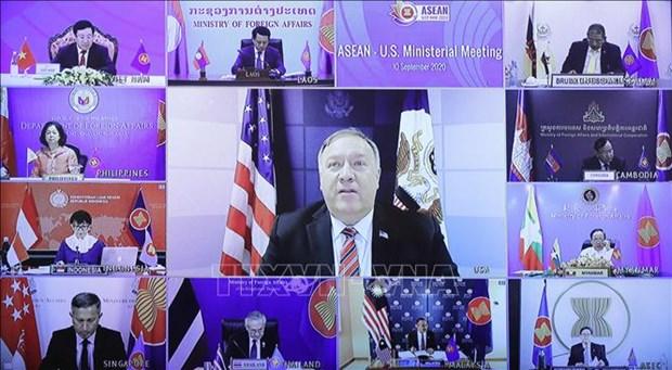 东盟与美国外长视频会议:推动东盟与美国战略伙伴关系发展 hinh anh 1