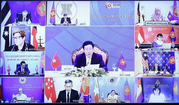 东盟与澳大利亚、新西兰和加拿大外长会议陆续举行 hinh anh 1