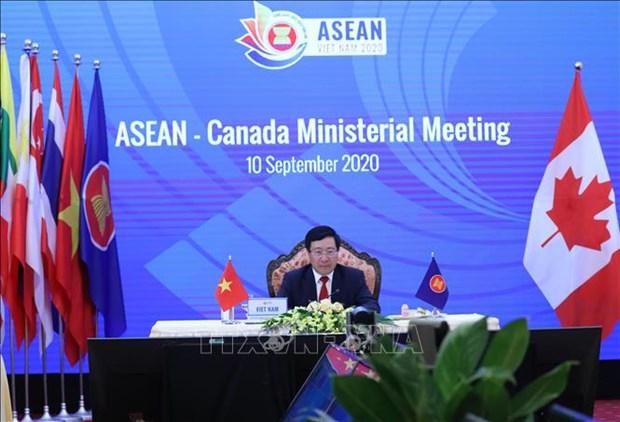东盟与澳大利亚、新西兰和加拿大外长会议陆续举行 hinh anh 3