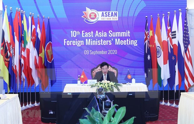 第10届东亚峰会外长会:各伙伴国高度评价越南作为2020年东盟轮值主席国的作用 hinh anh 1