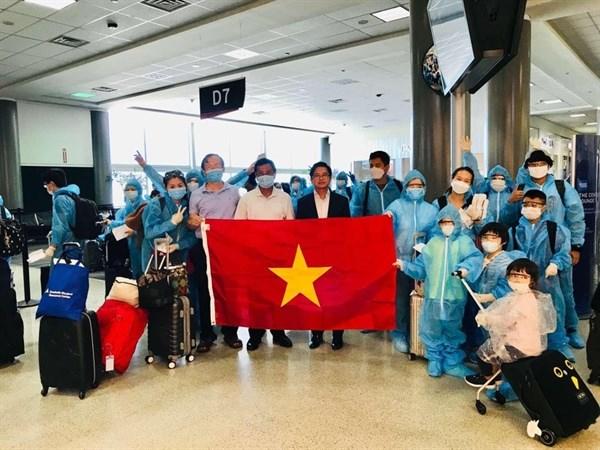 新冠肺炎疫情:将在美国的近350名越南公民接回国 hinh anh 1