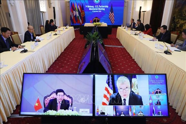 ASEAN 2020:越南主持第一届湄公河-美国伙伴关系部长级会议 hinh anh 1