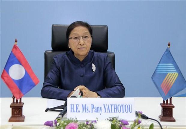 老挝国会主席:越南国会出色履行AIPA 41主席职责 hinh anh 1