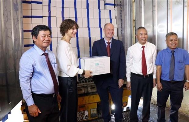 宁顺省首批虾类产品按照EVFTA协定向欧盟出口 hinh anh 3