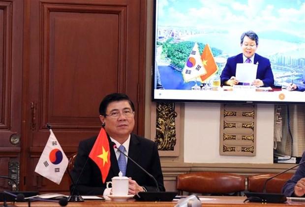 胡志明市与韩国釜山成立跨行业在线合作小组 hinh anh 1
