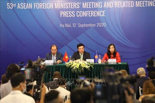 ASEAN 2020: 越南所提出的10项倡议获得第53届东盟外长会和相关会议批准 hinh anh 1