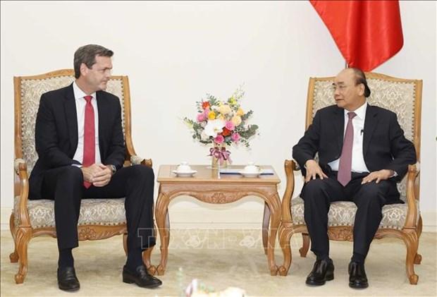政府总理阮春福会见亚行驻越首席代表安德鲁·杰富瑞 hinh anh 1