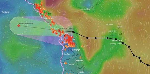 第五号台风今早登陆越南导致1人死亡多人受伤 hinh anh 2