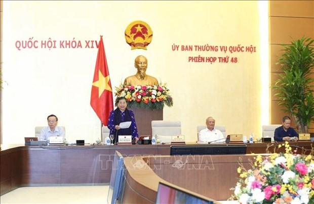 越南国会常委会第48次会议落下帷幕 hinh anh 1