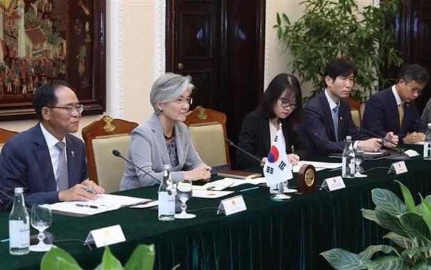 越南政府副总理兼外长范平明同韩国外长举行会谈 hinh anh 2