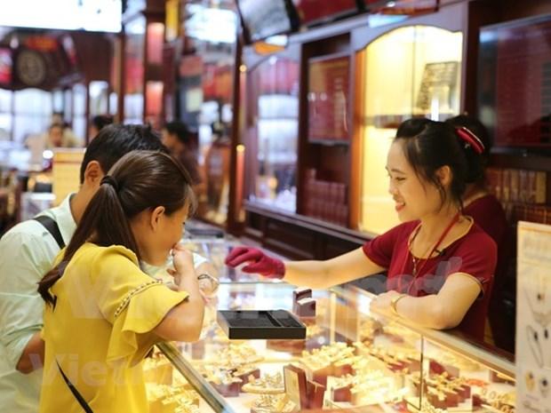 9月18日越南国内黄金价格小幅上涨 hinh anh 1