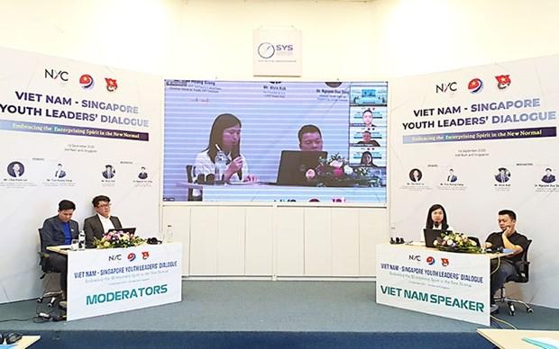 加强越南与新加坡年轻企业的合作 hinh anh 1
