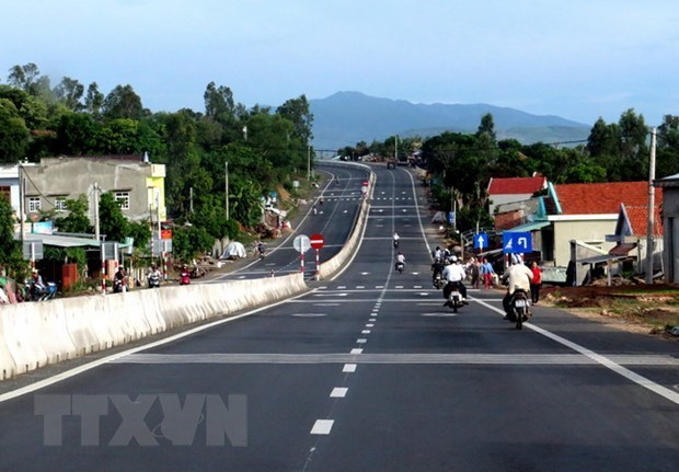 连接越南平福省与柬埔寨的公路升级改造项目开工 hinh anh 1