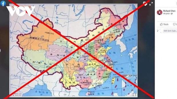 一名外籍男士因在社交网上散发标注错误国家主权的越南地图而受处罚 hinh anh 1