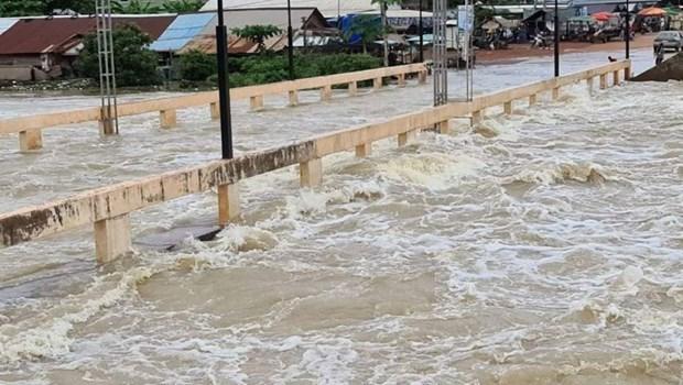 暴雨给柬埔寨多个省份造成严重洪涝灾害 hinh anh 1