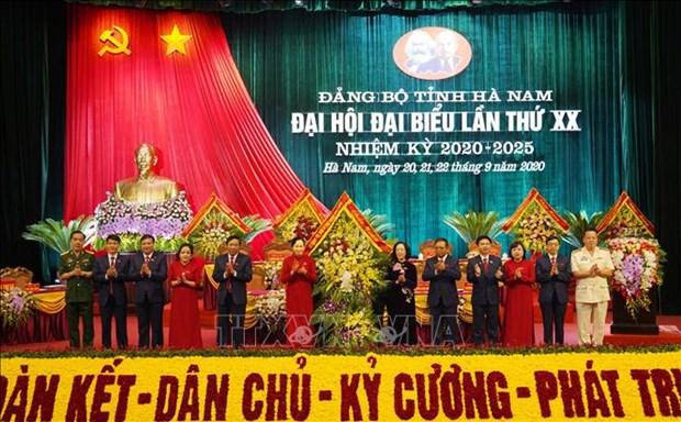 面向越共十三大:黎氏水再次当选2020-2025年任期河南省委书记 hinh anh 1