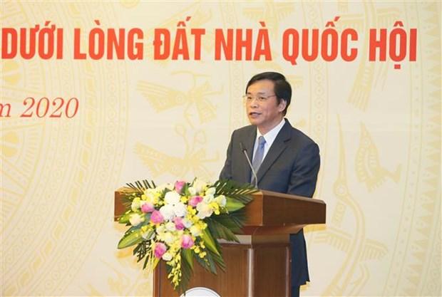 越南国会办公厅举行国会大厦地下考古发现展示馆交接仪式 hinh anh 3