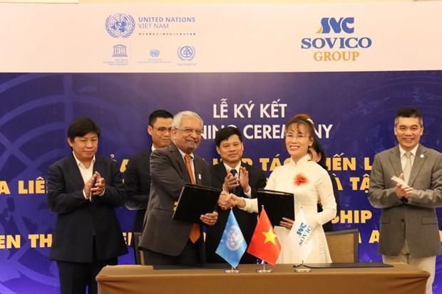 越捷航空最大股东SOVICO集团成为联合国的战略伙伴 hinh anh 1