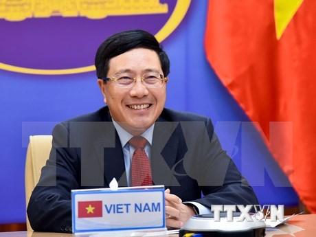 越南政府副总理兼外长范平明与沙特阿拉伯外交大臣费萨尔通电话 hinh anh 1