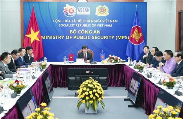 越南出席第20届东盟打击跨国犯罪高官会议 hinh anh 1