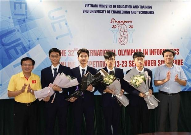 2020年第32届国际信息学奥林匹克竞赛越南队全部得奖 hinh anh 1