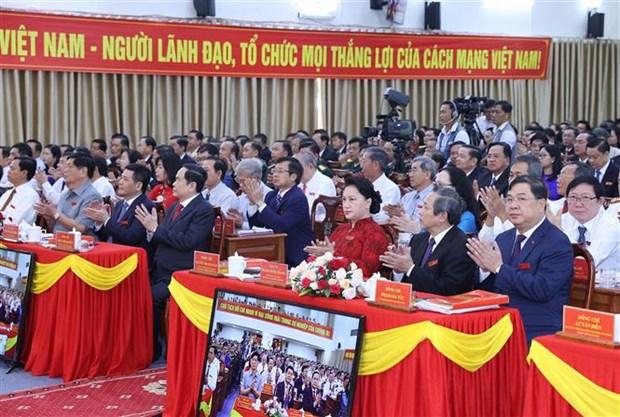 越南国会主席阮氏金银出席越共芹苴市代表大会 hinh anh 1