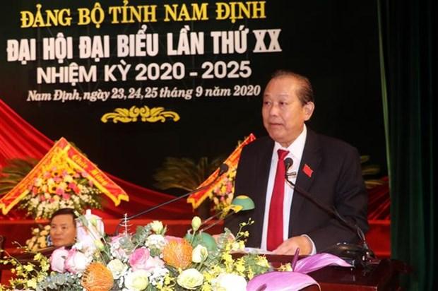 迎接越共十三大:张和平同志出席越共南定省第二十次代表大会 hinh anh 2