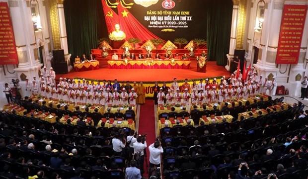 迎接越共十三大:张和平同志出席越共南定省第二十次代表大会 hinh anh 1