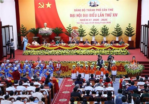 越南国会主席阮氏金银出席越共芹苴市代表大会 hinh anh 3