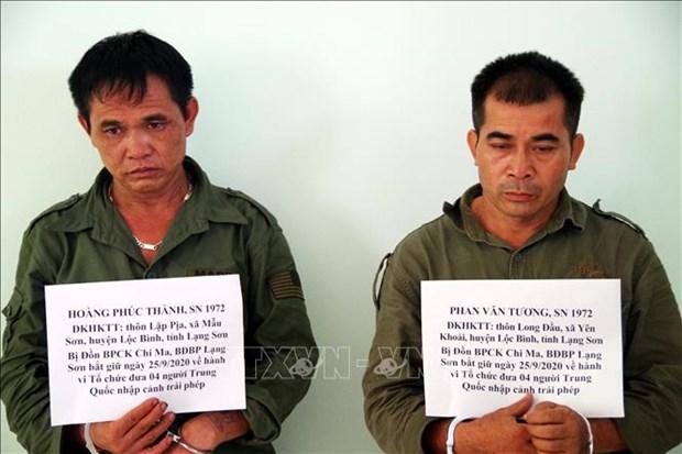 谅山省职能力量成功侦破组织中国人非法入境越南的两个犯罪团伙 hinh anh 1