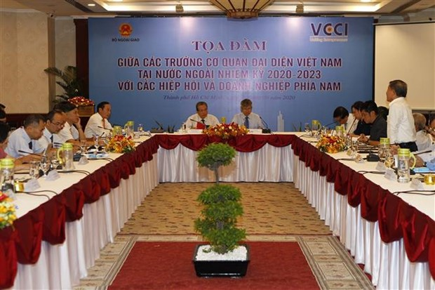 进一步加强越南驻外代表机构与企业之间的合作 hinh anh 1