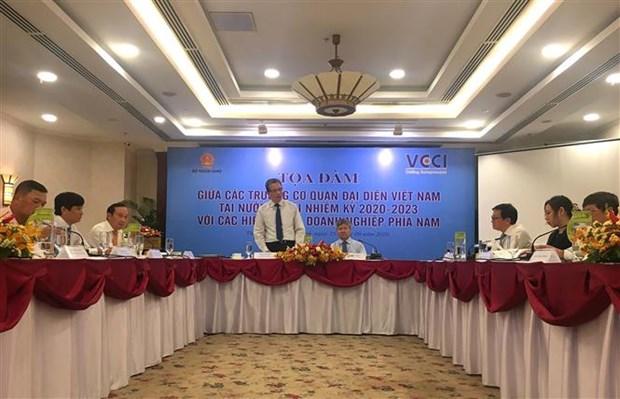 进一步加强越南驻外代表机构与企业之间的合作 hinh anh 2