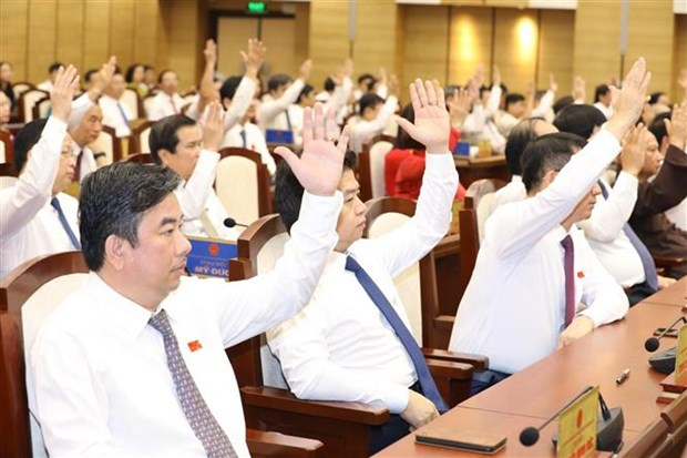 党建:朱玉英同志当选河内市人民委员会主席 hinh anh 1