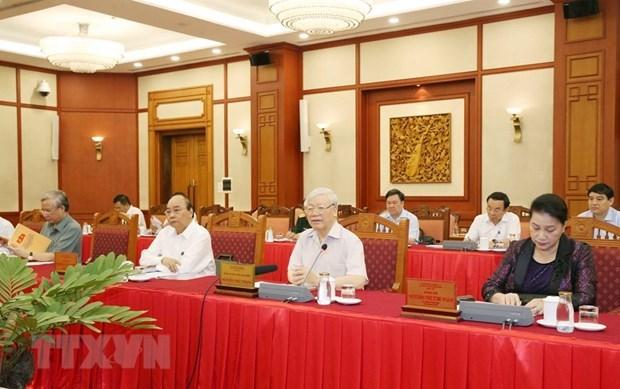 迎接党的十三大:越共中央政治局就2020-2025年任期党代表大会准备工作与所有中央直属党委进行分组讨论 hinh anh 1