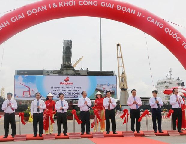 隆安国际港一期工程竣工 二期工程开始动工兴建 hinh anh 1