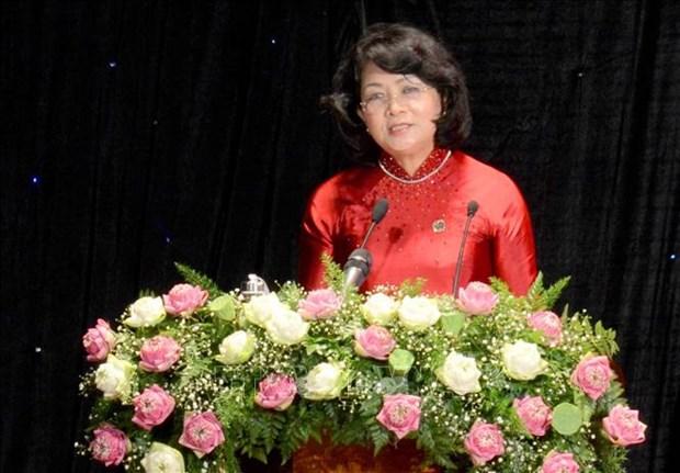 越南国家副主席邓氏玉盛出席岘港市第五届爱国竞赛大会 hinh anh 1