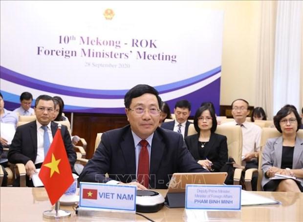 第十届湄公河-韩国外交部长会议召开 hinh anh 1
