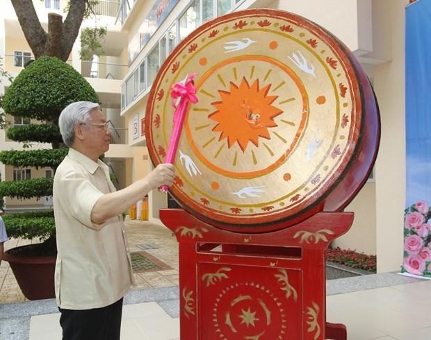 越共中央总书记、国家主席阮富仲向少年儿童致以中秋节的祝贺 hinh anh 1
