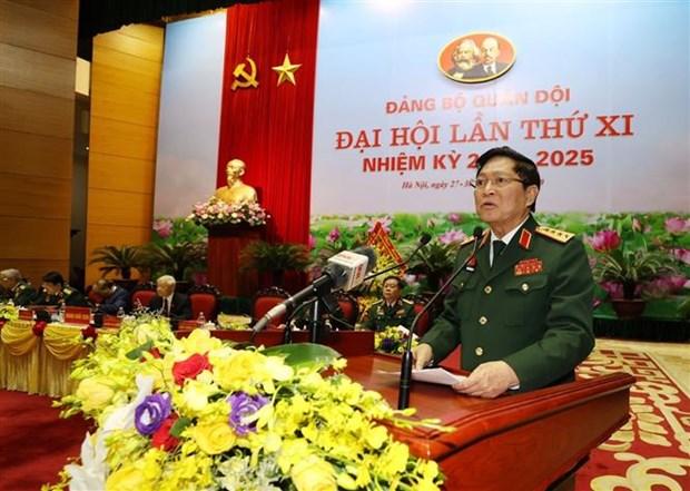 迎接党的十三大:越共军队第十一次代表大会开幕 阮富仲出席并发表指导性讲话 hinh anh 2