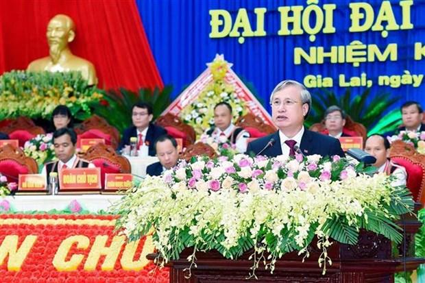 越共中央书记处常务书记陈国旺出席越共嘉莱省第十六次代表大会 hinh anh 1