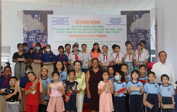 纪念越南与古巴建交60周年的儿童绘画比赛在胡志明市举行 hinh anh 1
