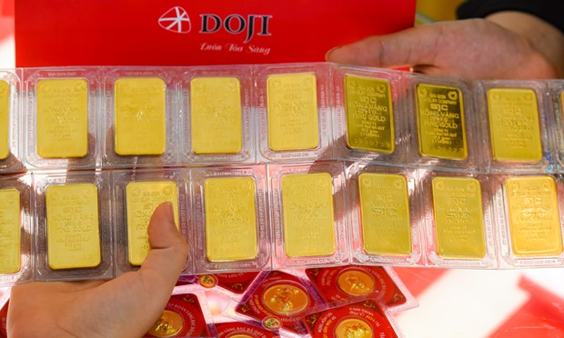 9月29日上午越南国内黄金价格上涨60万越盾 hinh anh 1