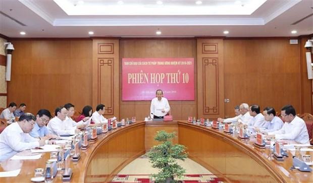 越共中央司法改革指导委员会召开第十次会议 hinh anh 1