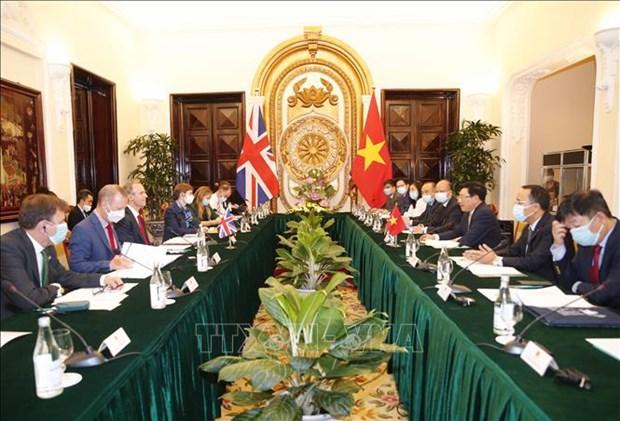 越南政府副总理兼外长范平明同英国外交发展大臣举行会谈 hinh anh 1