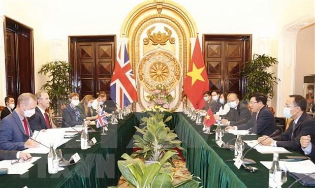 越南与英国发表关于战略伙伴关系的联合声明 hinh anh 1