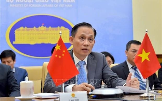 越南外交部副部长黎怀忠线上致辞庆祝中国国庆 hinh anh 1