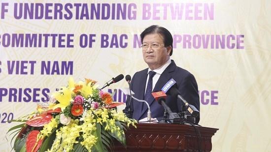 北宁省与工贸部和三星(越南)公司签署越南企业扶助计划的三方合作备忘录 hinh anh 2
